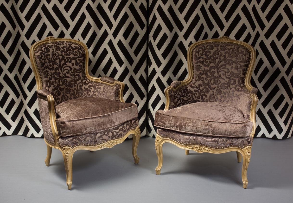 Réfection Fauteuils Bergères de style Louis XV